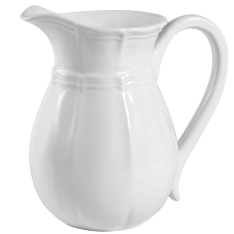 white pitcher vase