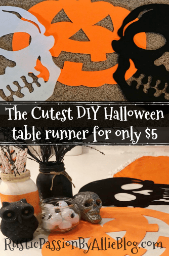 diy table runner diy halloween home decor diy halloween crafts