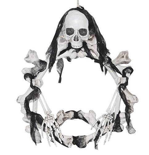 halloween wreath skull home decor diy halloween decor skull wreath