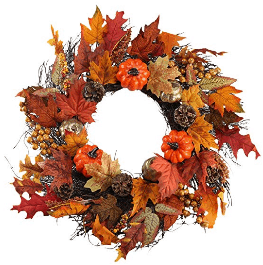 fall wreath pumpkin wreath fall leaves fall home decor