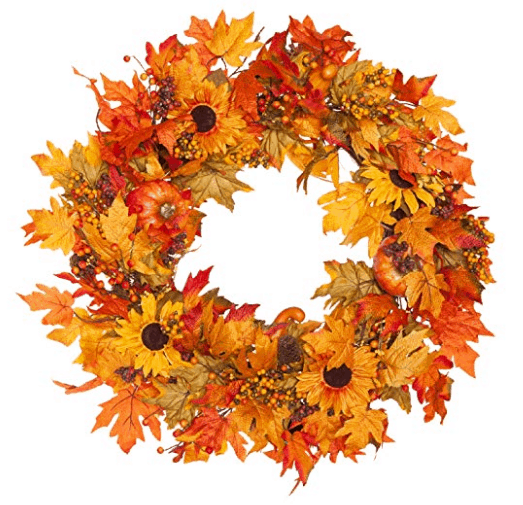 fall wreath pumpkin wreath fall leaves fall home decor pinecone decor thanksgiving wreath