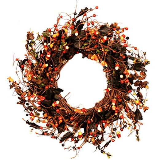 halloween wreath candycorn wreath halloween home decor diy wreath