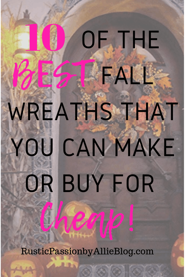 Fall Wreaths - DIY Wreaths - DIY Fall Home Decor - Farmhouse Home Decor