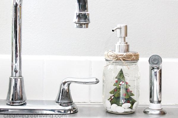 diy snow globe soap pump