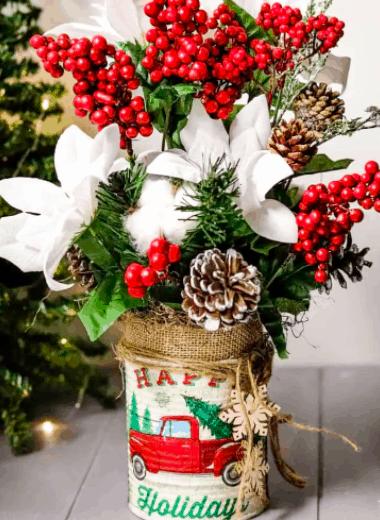 tin can christmas decor