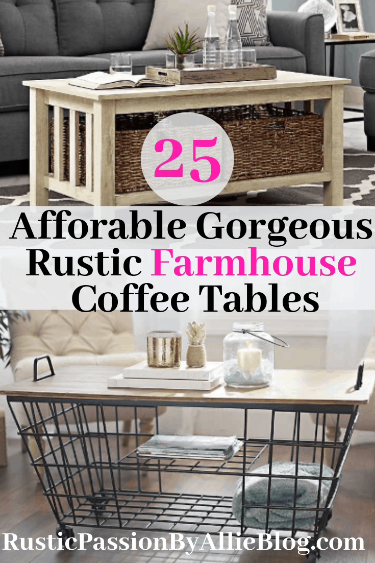 I absolutely love farmhouse, rustic, and industrial coffee tables. There are so many different styles in this post. A coffee table is the centerpiece of a living room. This collection is full of chunky, white, Joanna Gaines inspired coffee tables.