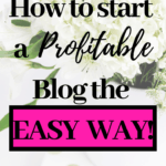 How to start a profitable blog the easy way.