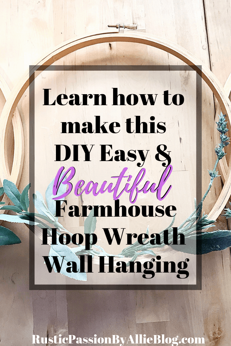 I love this Spring Wreath. It's the cutest embroidery hoop wreath wall hanging. The greenery and floral on it adds so much character. This new trend is so fun. This is such an easy Spring home decor project. You will love making your own diy spring wreath. It's affordable and barely costs anything. #diyhoopwreath #diyembroideryhoopwreath #embroideryhoopwreath #diyspringwreath