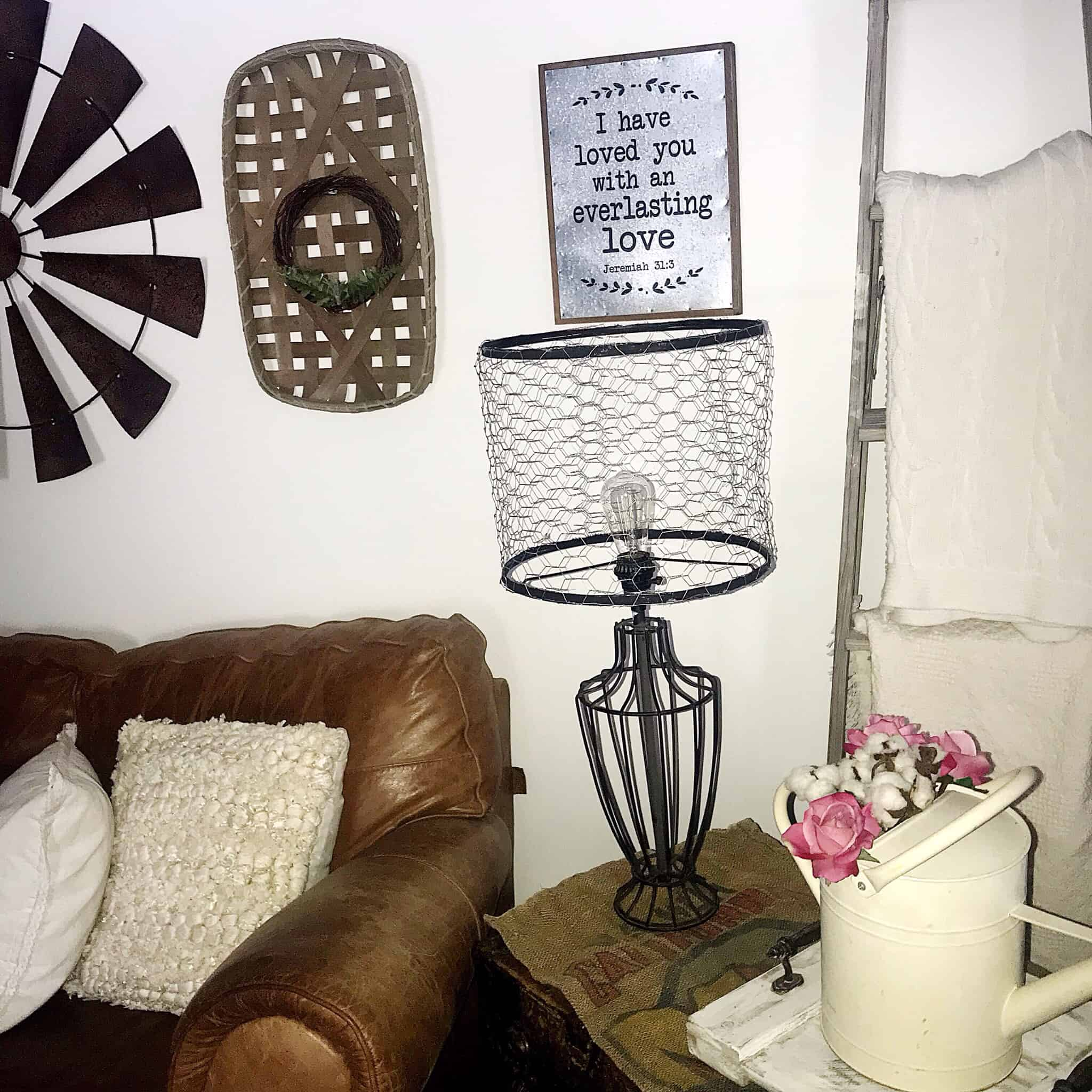 Step By Step Learn The Easiest Farmhouse Diy Lampshade Makeover