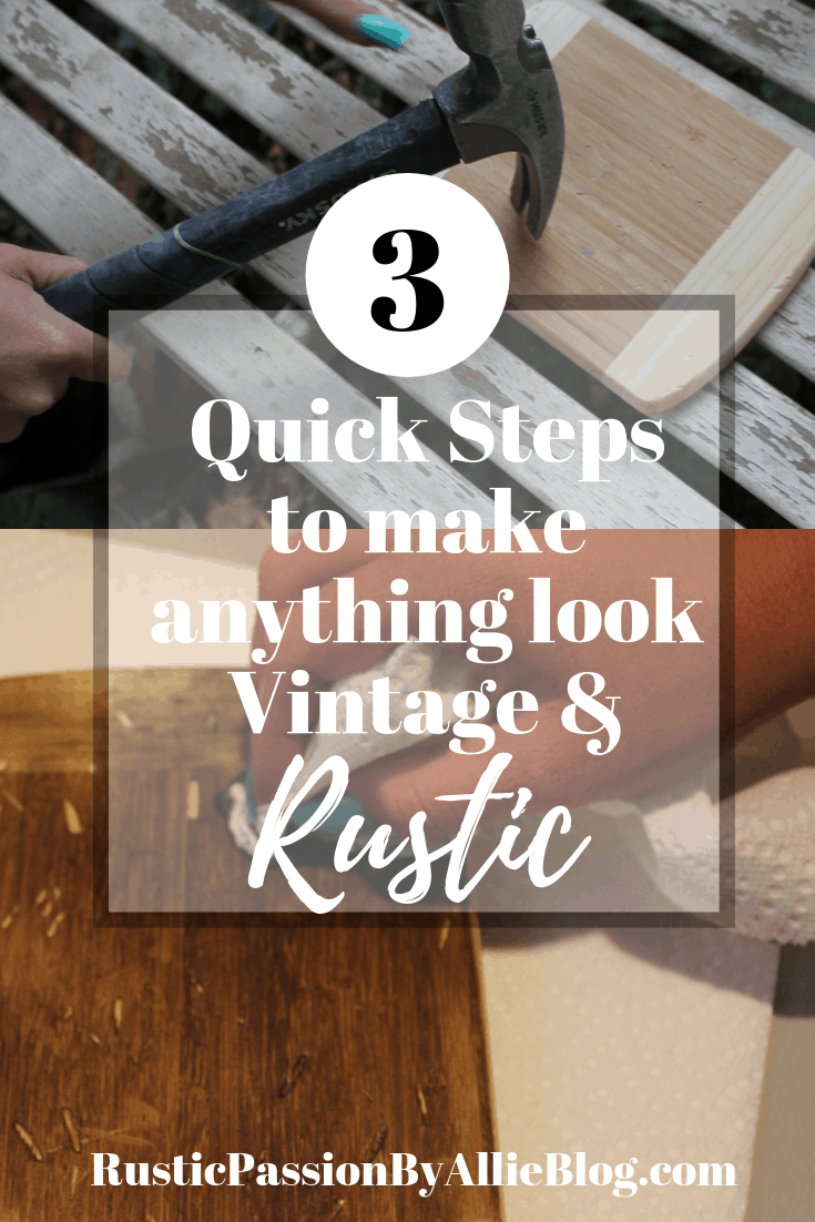 This is the easiest way to new wood look old. It's so quick in 3 easy steps you can have rustic old weathered looking wood.