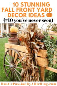 Wagon filled with Fall decorations fall decorations for the porch text overlay - 10 stunning fall front yard decor ideas #10 you've never seen