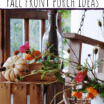 Front porch decor wooden crate with pumpkins on top fall decorations for the porch