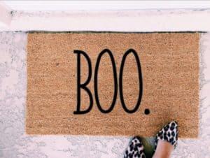 boo fall door mat