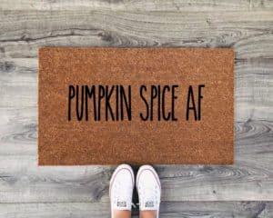 pumpkin spice af fall door mat
