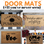 4 fall door mats with text overlay - 14 fall affordable door mats #11 you've never seen.