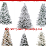 10 affordable flocked christmas tree prelit