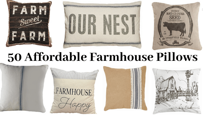 50 Farmhouse Pillows for CHEAP. You will want them all!