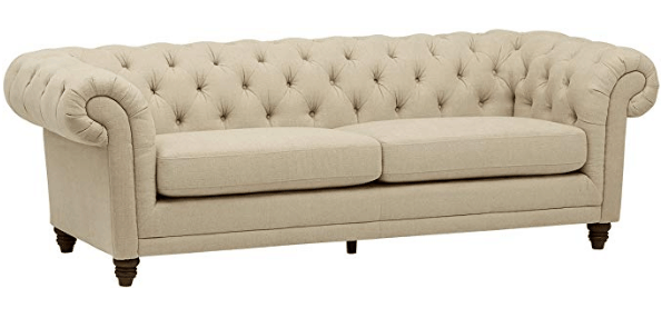farmhouse couch - neutral living room furniture