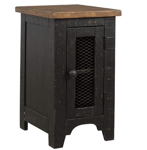 rustic wooden nightstand