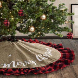 rustic christmas decorations burlap tree skirt